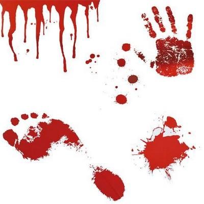 Autocollants muraux bain de sang for Autocollant muraux
