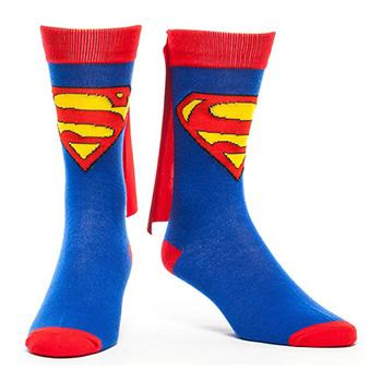 Chaussettes Superman avec Cape