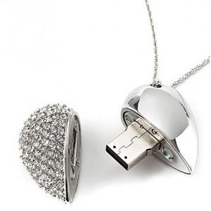 Clé USB Coeur Porte-Clés 8 Go