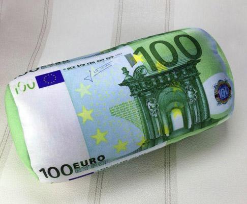 Coussin billet de 100 euros for Canape 100 euros