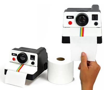 distributeur de papier toilette polaroid. Black Bedroom Furniture Sets. Home Design Ideas