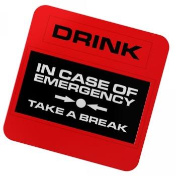Dessous de verre d`Urgence
