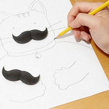 Gomme Moustache x3