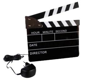 Horloge Réveil Clap de Cinéma