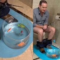 Jeu de pêche pour toilettes