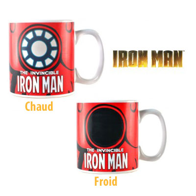 Mug Iron Man Thermo-réactif