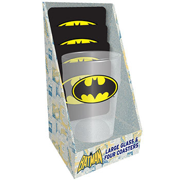 Maxi Verre Batman et Dessous de Verre