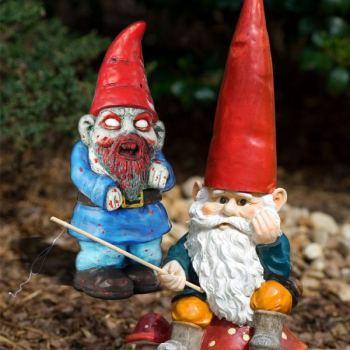 Nain de jardin zombie - Nain de jardin voyageur ...