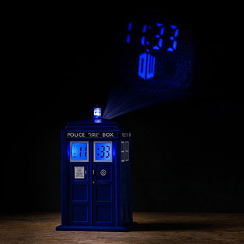 Réveil Projection Doctor Who Tardis