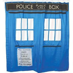 Rideau de Douche Tardis Doctor Who