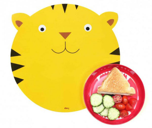 Set de Table et Assiette Tigre