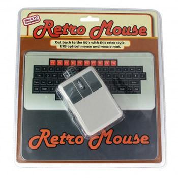 Souris USB et Tapis Rétro