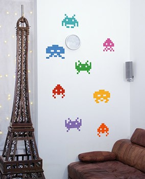 Stickers Space Invaders