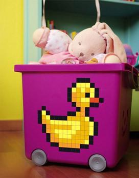 Sticker Pixel Canard de Bain