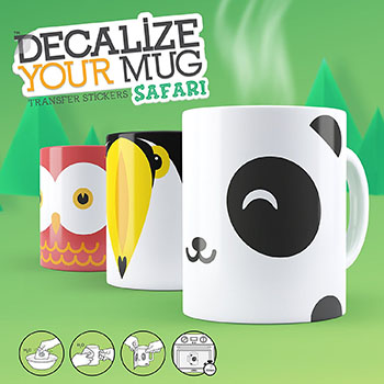 Stickers Personnalise ton Mug Safari