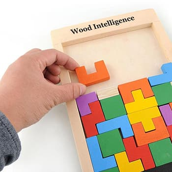 Puzzle Tetris en Bois
