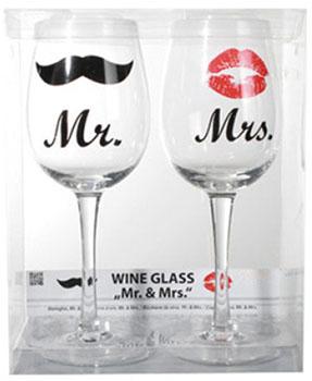 Verres à Vin Mr et Mrs
