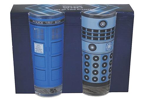 Verres Doctor Who Dalek et Tardis